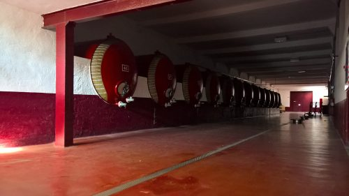 Depósitos Pacharán en la bodega de Villava