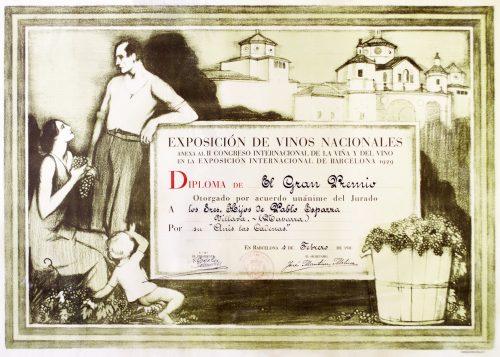 Diploma Exposición Universal Barcelona 1929.