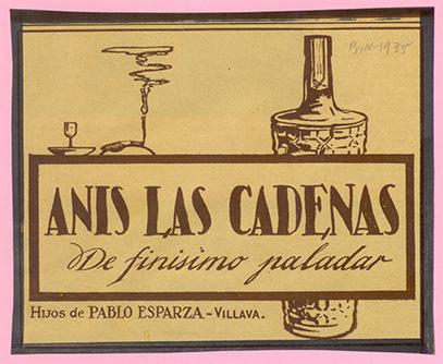Publicidad Anís Las Cadenas años 30 SXX